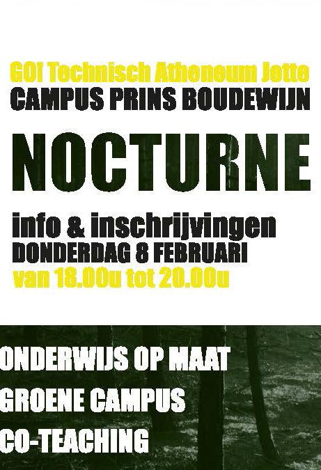 Nocturne Campus Boudewijn op 8 februari