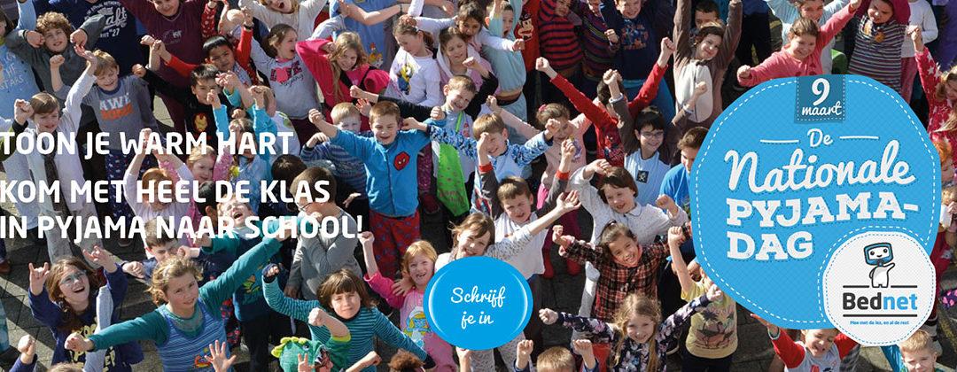 Vrijdag 9 maart Nationale Pyjamadag van Bednet, ook op TA Jette!